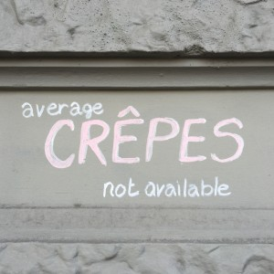 average crêpes not available.